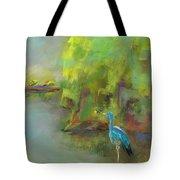 Crane At Golden Ponds Tote Bag