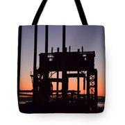 Crane At Sunset Tote Bag
