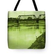 Crane At The River Tote Bag