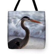 Crane By The Sea Tote Bag