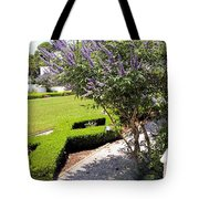 Crane Cottage Garden In Spring Tote Bag