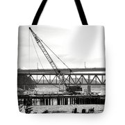 Crane In Winter Tote Bag