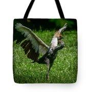 Crane On A Mission Tote Bag