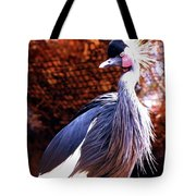 Crane Stare Down Tote Bag