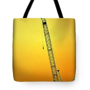 Crane With Towers Tote Bag