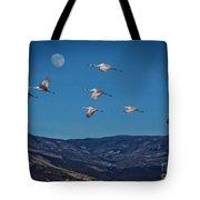 Cranes Across Colorado Blue Tote Bag