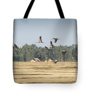 Cranes Over Ethiopia Tote Bag