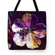 Cranesbill Flower Close Bee Insect  Tote Bag