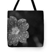 Cranesbill Geranium In Black And White Tote Bag