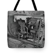 Crank Wood Bw Tote Bag