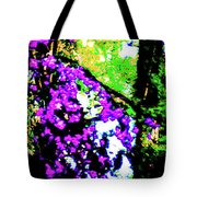 Crape Myrtles Abstract Tote Bag
