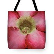Craquelure Pink Flower Tote Bag