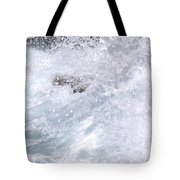 Crashing Against Lava Rocks Tote Bag
