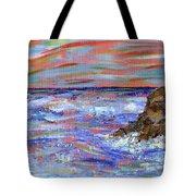 Crashing Of The Waves Tote Bag