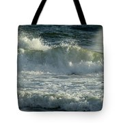 Crashing Wave Tote Bag by Sandy Keeton
