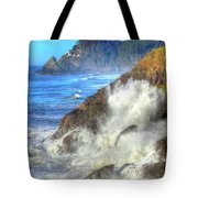 Crashing Waves 100 Tote Bag
