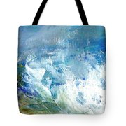 Crashing Waves Against The Shore Tote Bag