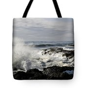 Crashing Waves At Cape Perpetua Tote Bag