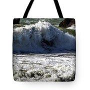 Crashing Waves At Goat Rock Tote Bag