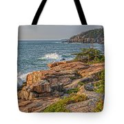 Crashing Waves At Otter Cliff Tote Bag