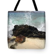 Crashing Waves At Sugar Beach Tote Bag