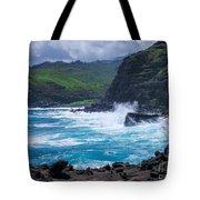 Crashing Waves - Nakalele Point  Tote Bag