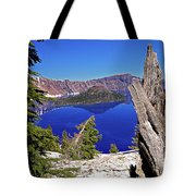Crater Lake And Wizard Island Tote Bag