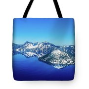 Crater Lake Blue Tote Bag
