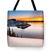 Crater Lake Dawn Tote Bag