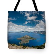 Crater Lake From Watchman Overlook Tote Bag
