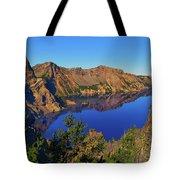 Crater Lake Morning Reflections Tote Bag