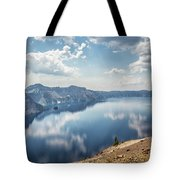 Crater Lake With A View Of The Phantom Ship Tote Bag