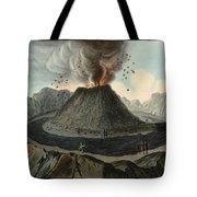 Crater Of Mount Vesuvius, Before 1767 Tote Bag