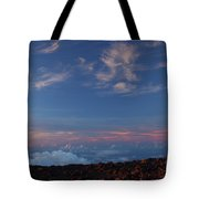 Crater Sunset Tote Bag