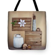 Crates With Flower Still Life Tote Bag