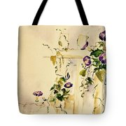 Crawling Flowers Tote Bag