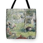 Crayfishing Tote Bag by Carl Larsson