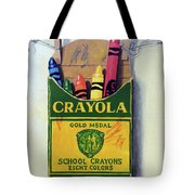 Box Of Crayons Painting Tote Bag
