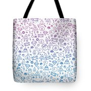 Crazy And Cute Monster Patter In Blue Pink Tote Bag