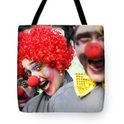Crazy Circus Clowns Tote Bag