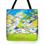 Crazy Colors Tote Bag