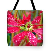 Crazy Dewy Red Flower Tote Bag