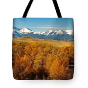 Crazy Mountain Creek Tote Bag