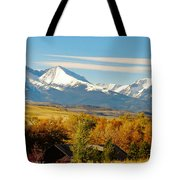 Crazy Mountain Homestead Tote Bag