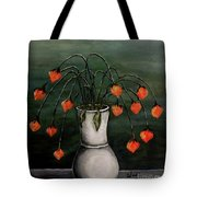 Crazy Red Flowers Tote Bag