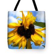 Crazy Sunflower Look Tote Bag