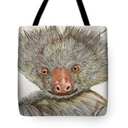 Crazy Two Toed Sloth Tote Bag