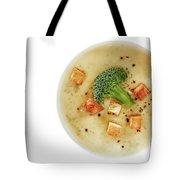 Cream Of Broccoli Soup Tote Bag