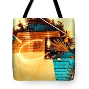 Cream Reflections Tote Bag