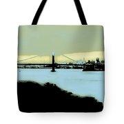 Creamy Blue Sunset Sf Gate Tote Bag